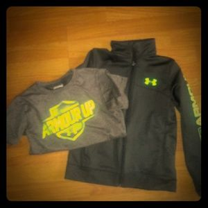 Boys hoodie and tee set UNDER ARMOUR
